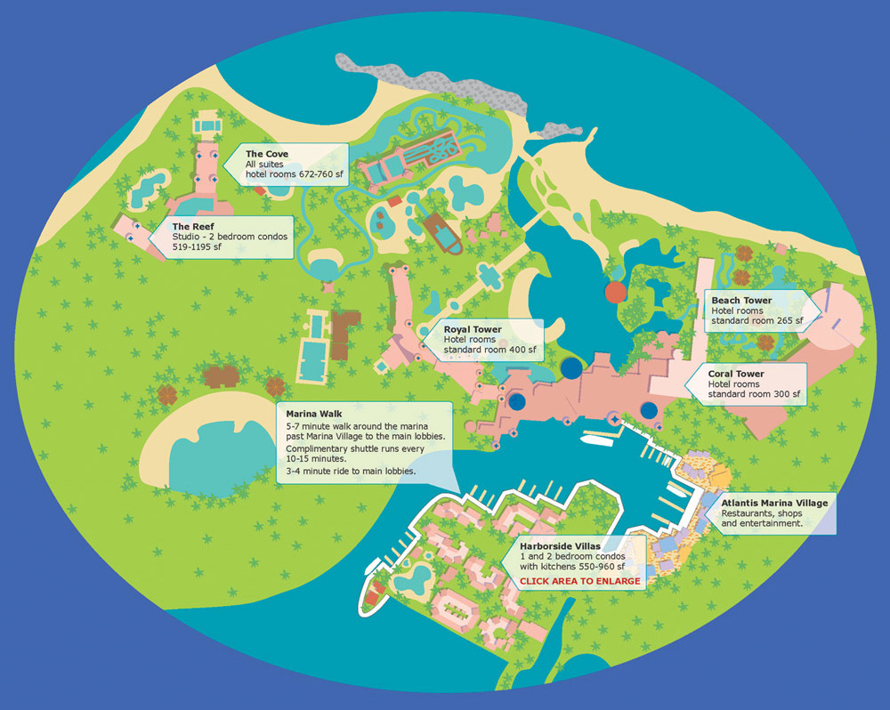 Atlantis Resort Map Resort Map & Activities | Harborside at Atlantis | Family Fun Atlantis